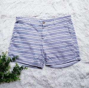🛍Gap khakis by gap girlfriend 6in striped shorts